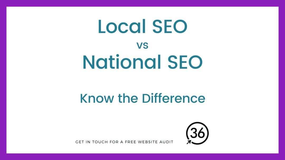 local seo vs National SEO