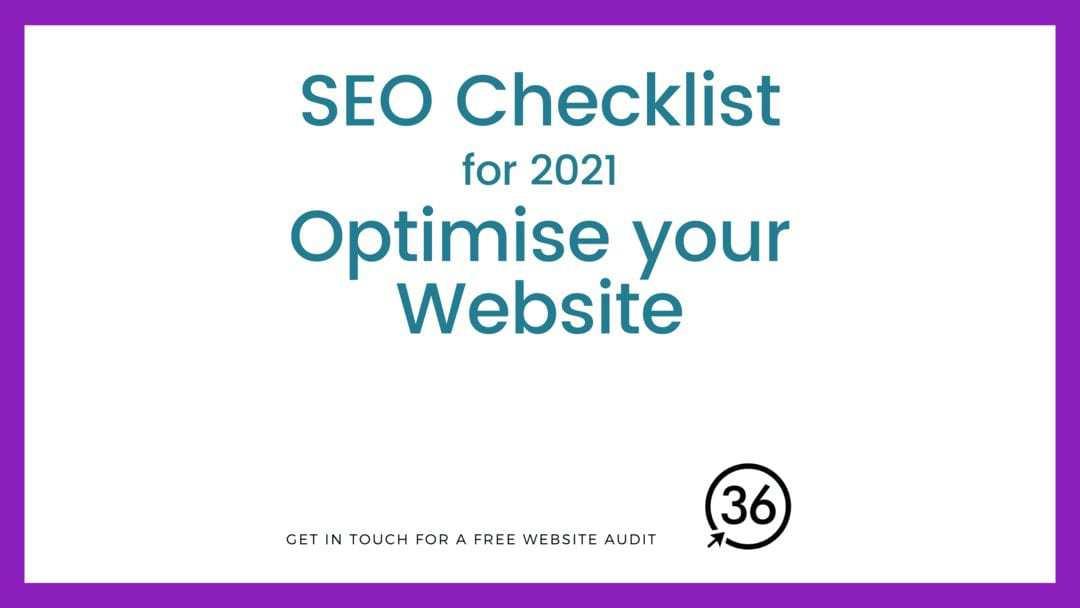 seo checklist for 2021