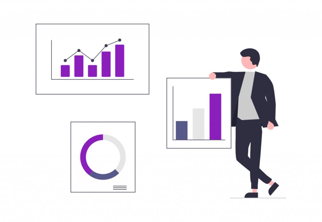 website design statistics illustration